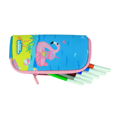 Image of Smily Mini Pencil Pouch Light Blue