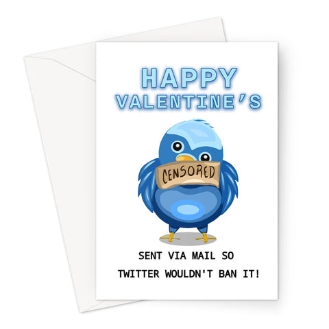 Sent Via Mail - Valentine's Day Card Greeting Card