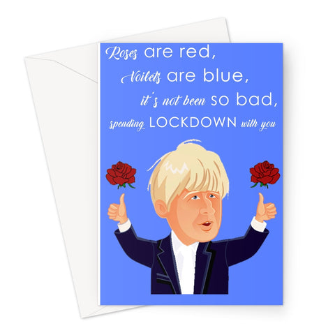 Lockdown with you - Valentine's Day Card Greeting Card