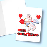 Best Girlfriend - Valentine's Day Card Greeting Card