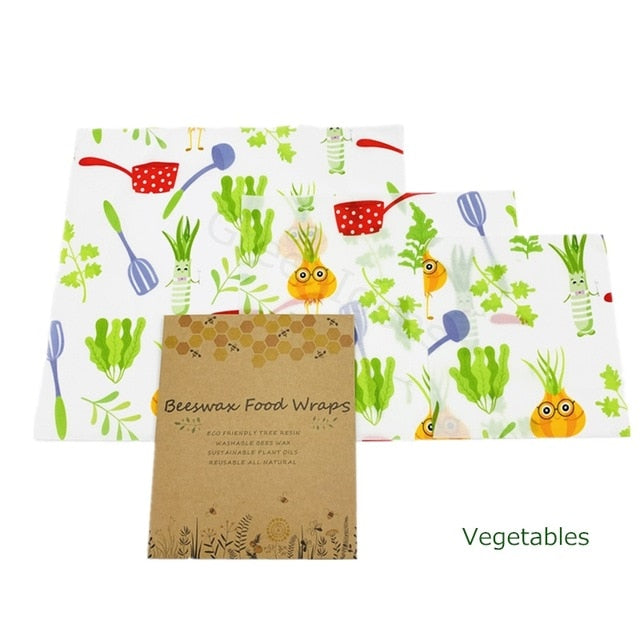 Beeswax Food Wraps (Pack of 3)