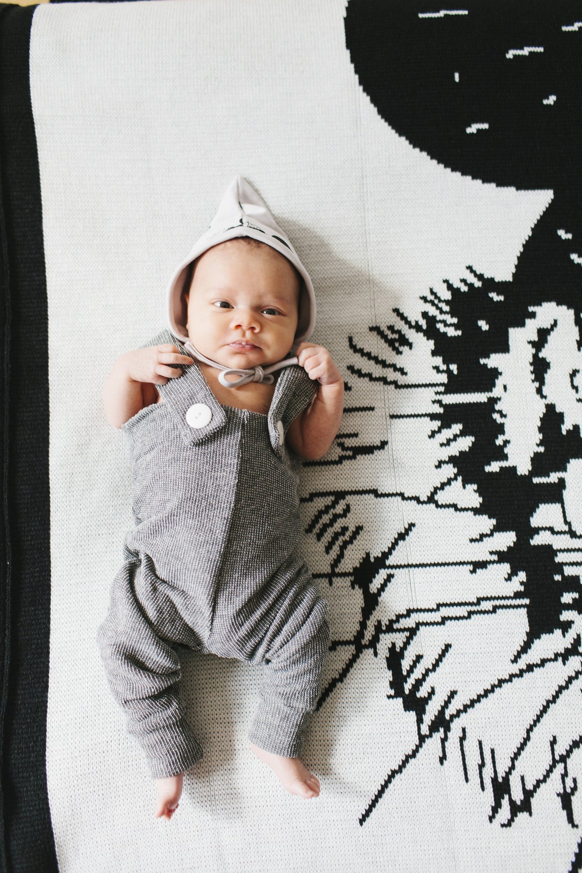 The Julius, organic all over tiger children's bonnet