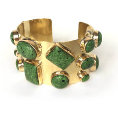 Harris Cuff in Small Green Turquoise