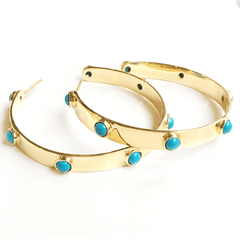 Graham Hoops in Turquoise