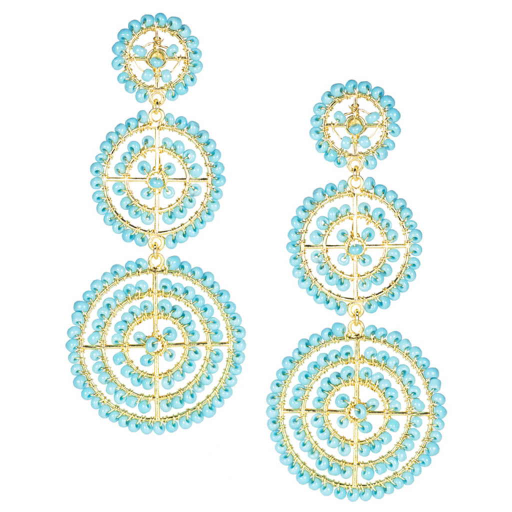 Greta Earrings in Turquoise