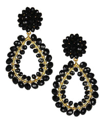 Margo Earrings in Czech Black
