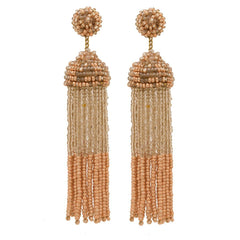 Macie Earrings in Blush and Gold