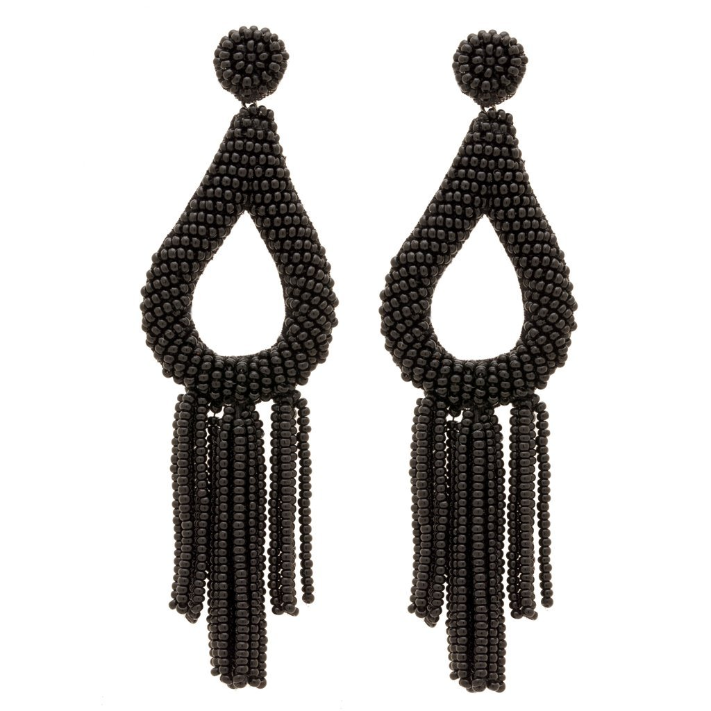 Stella Rae Earrings in Black