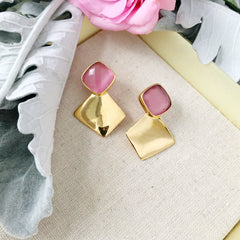 Hutchinson Earrings in Pink Quartz
