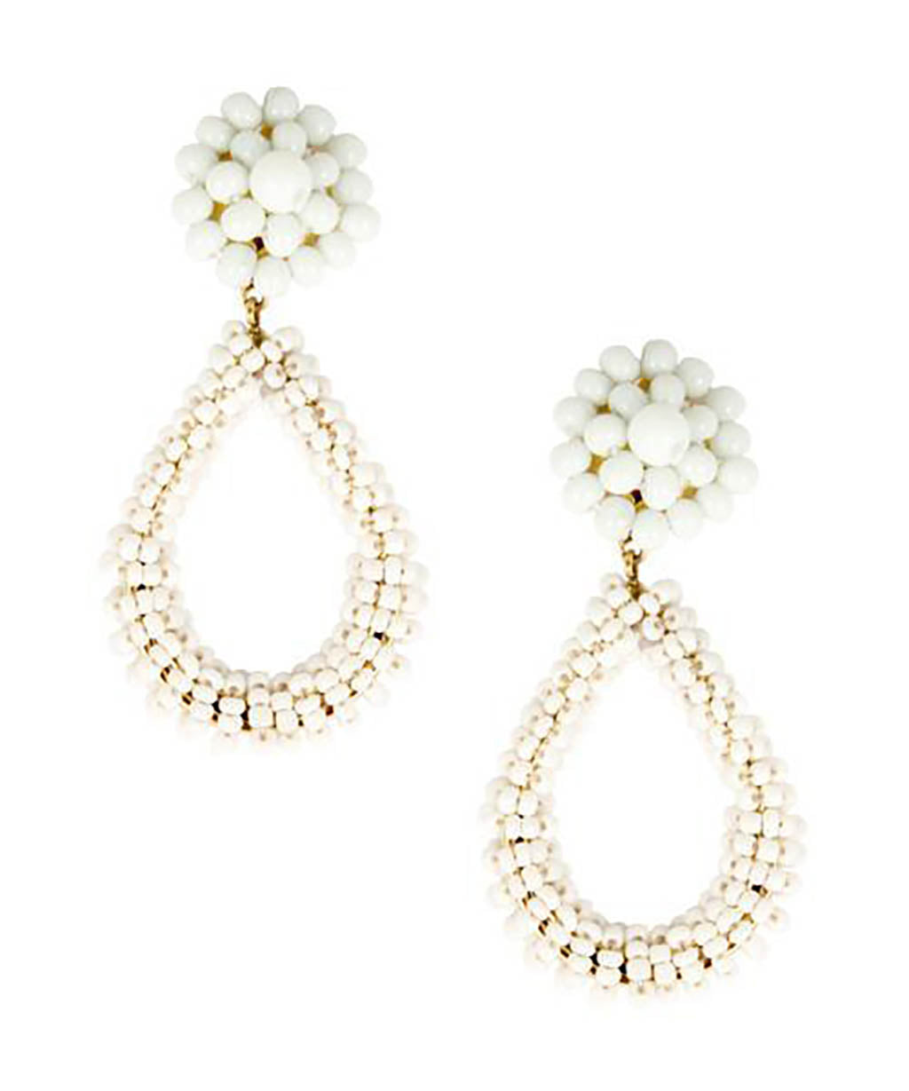 Kate Earrings in White