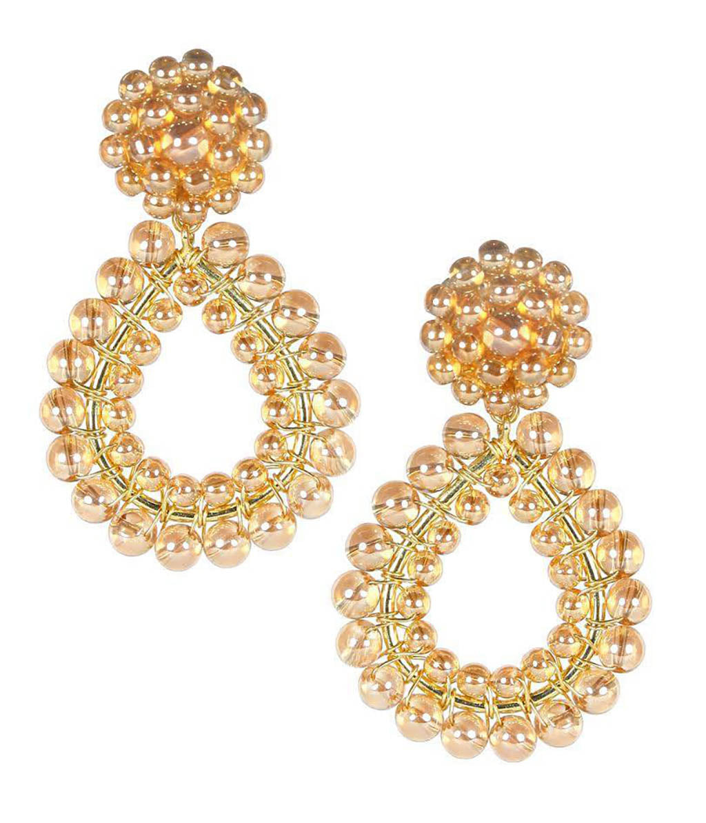 Margo Earrings in Champagne