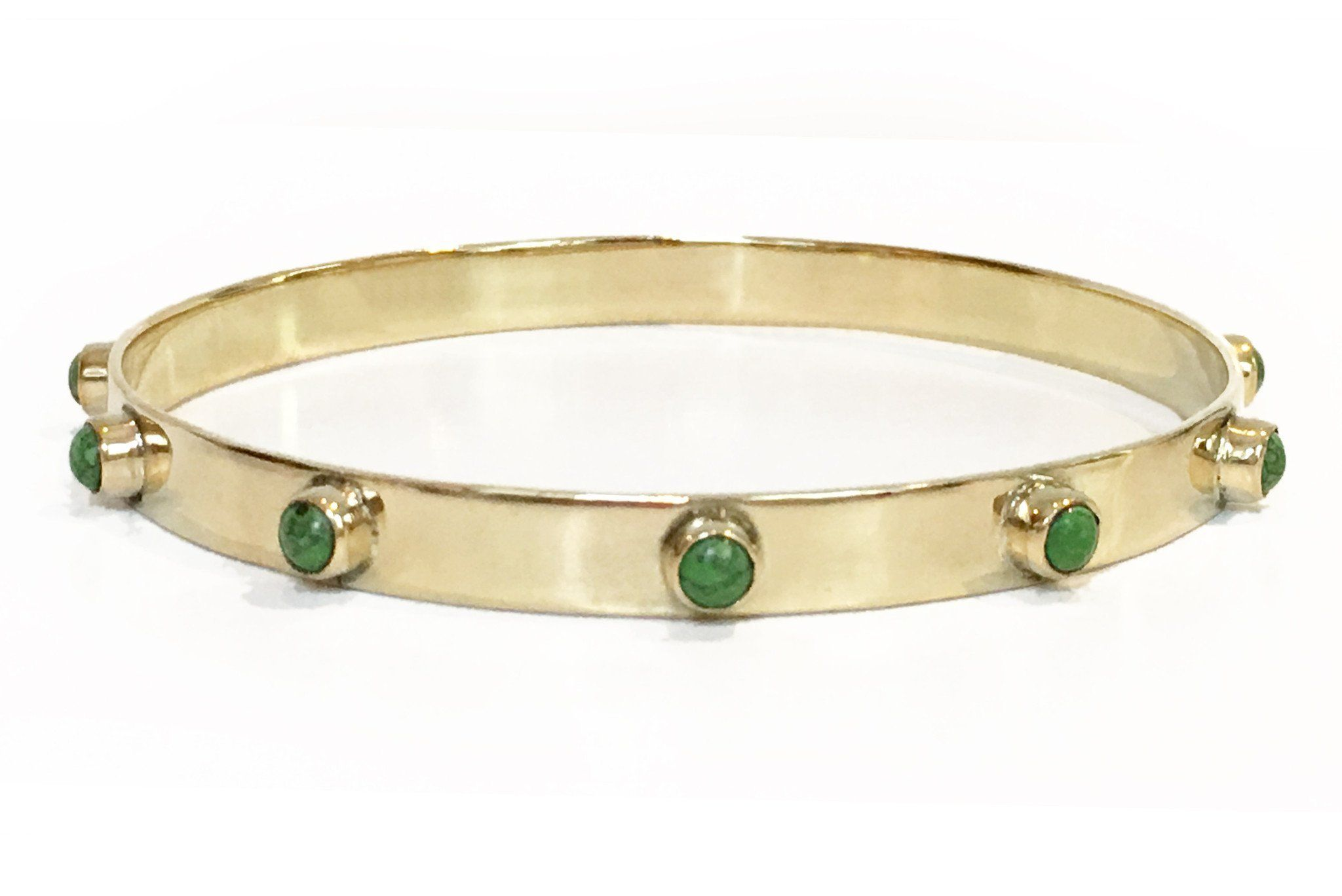 Graham Bangle in Green Turquoise