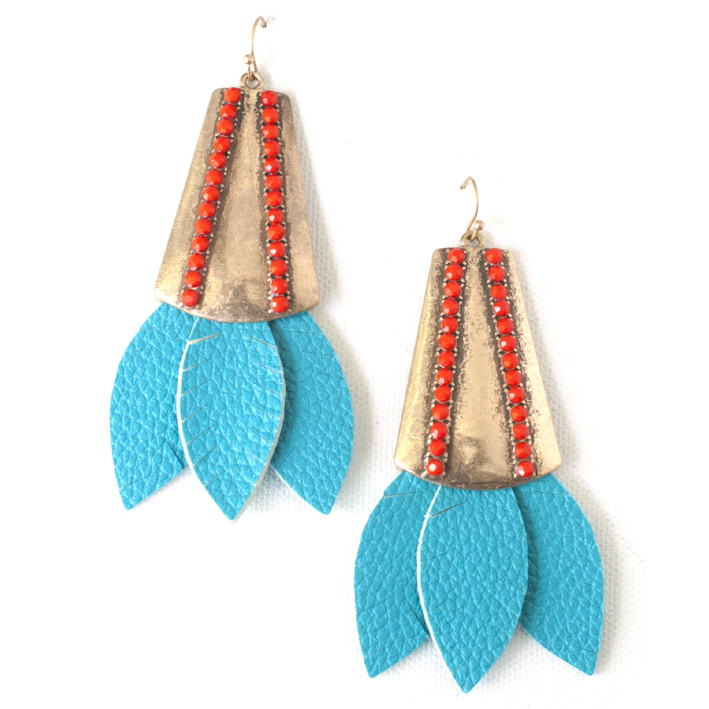 Willow Earrings in Blue