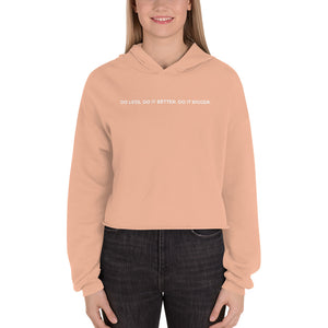 Do Less Crop Hoodie