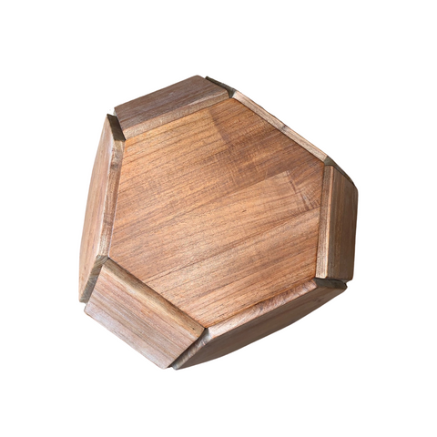 Randell Morgan Teak Sculptural Seating Orb