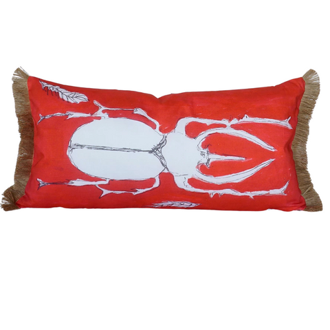 Orange Beetle Pillow