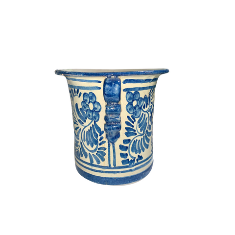 1930's Mexican Blue Talavera Pot