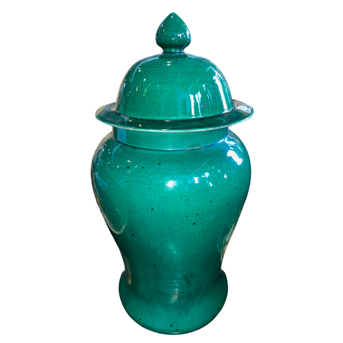 1960's Green Ginger Jar