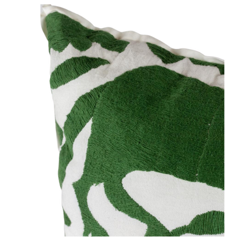 Green/White Rooster Pillow