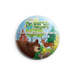 Animal Saving Hero Earth Ranger Button - 2.25""