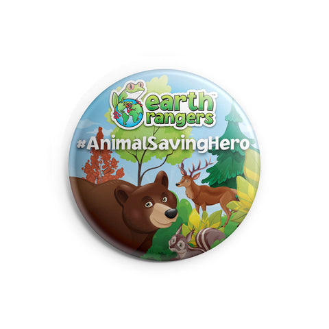 Animal Saving Hero Earth Ranger Button - 2.25