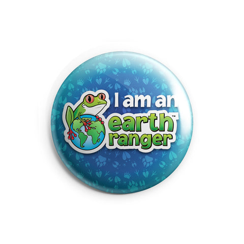 Blue I am an Earth Ranger Button - 2.25