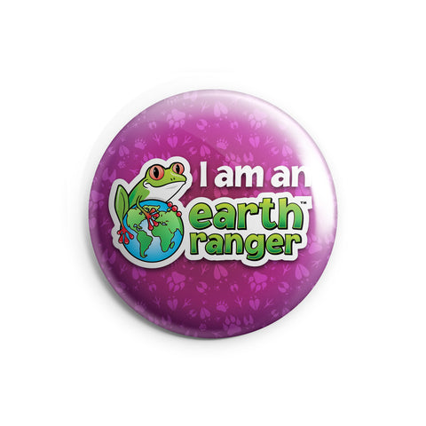 Pink I am an Earth Ranger Button - 2.25