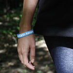 Blue Silicone I am an Earth Ranger Bracelet