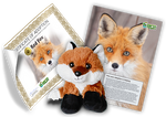 Kit d'adoption de renard roux - Lot de peluches