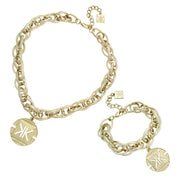 Kardashian Kollection Sovereign Charm Necklace and Bracelet Set