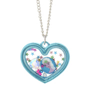 Frozen Elsa Shaker Heart Necklace