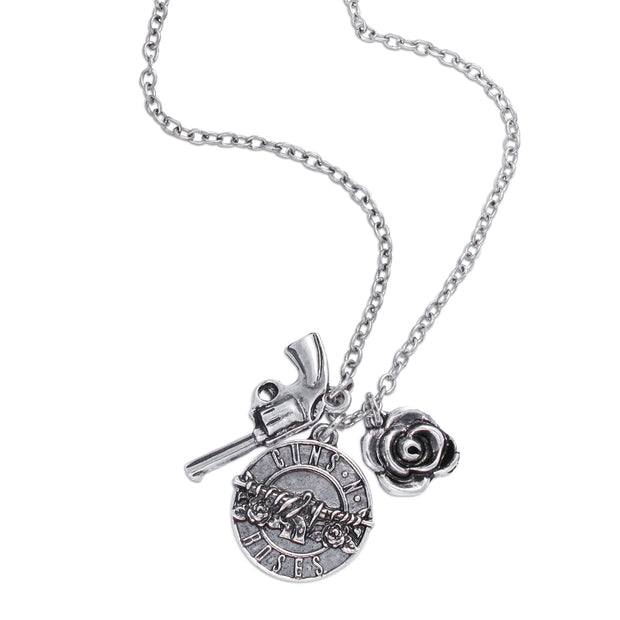 Guns N' Roses Triple Charm Necklace