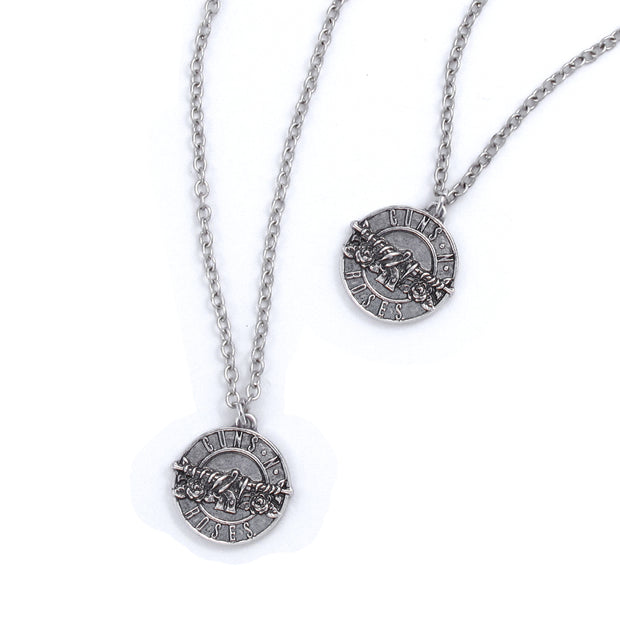 Guns N' Roses Disc Logo Necklace & Bracelet Set