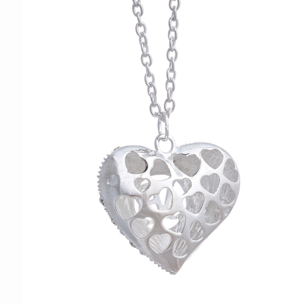 Justin Bieber Crystal Heart Necklace