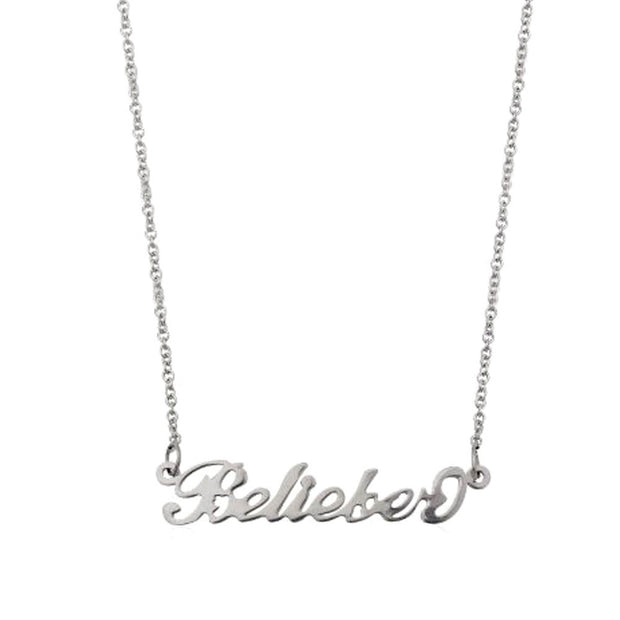 Justin Bieber 'Belieber' Necklace