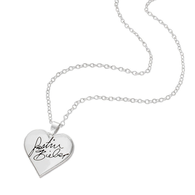Justin Bieber Signature Heart Necklace