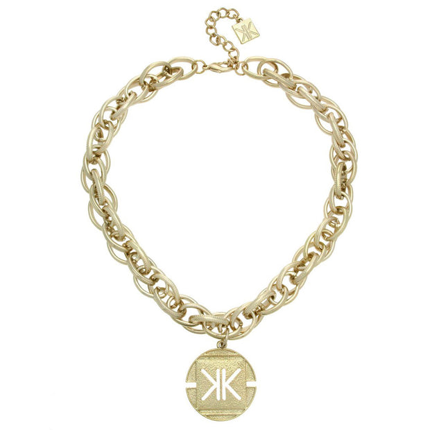 Kardashian Kollection Sovereign Charm Collar Necklace