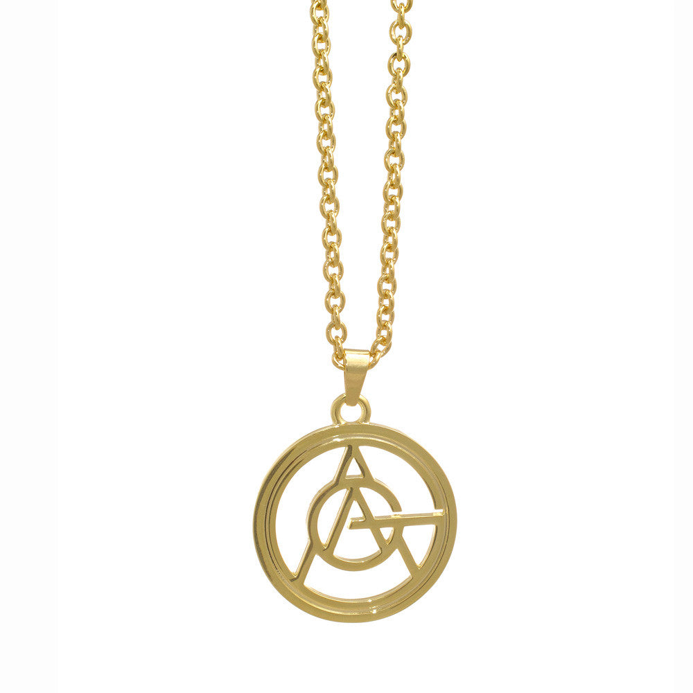 Lady Gaga Gold Logo Necklace