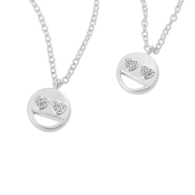 emoji® Heart Eyes Necklace & Bracelet Set