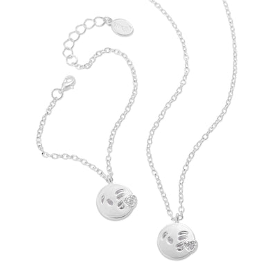 emoji® Kissing Necklace & Bracelet Set