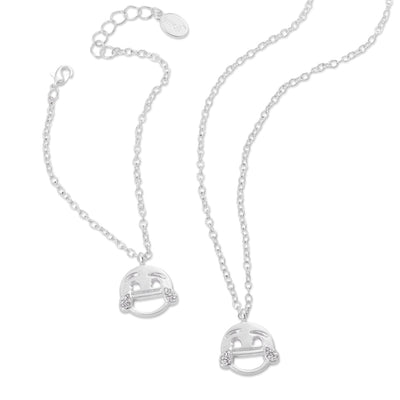 emoji® Laughing Necklace & Bracelet Set