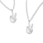 emoji® Peace Sign Necklace & Bracelet Set