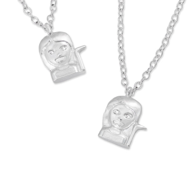 emoji® Sassy Girl Necklace & Bracelet Set