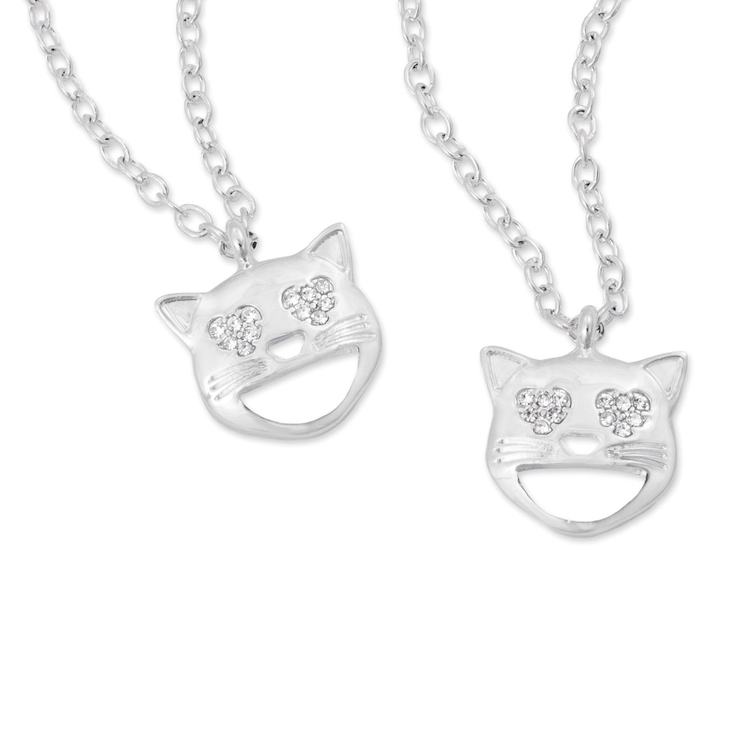 Emoji® Cat Heart Eyes Necklace & Bracelet Set