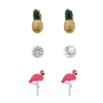 emoji® Tropical Flamingo Earrings Set