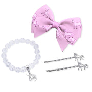 emoji® Unicorn Hair Clips and Bracelet Set