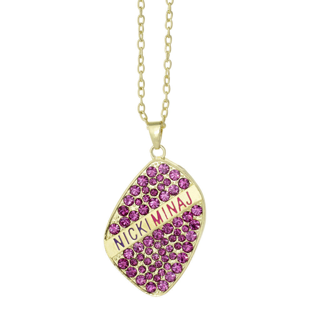 Nicki Minaj Crystal Logo Necklace