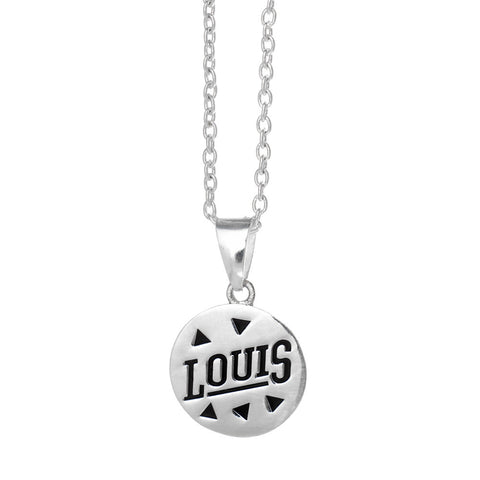 One Direction Louis Logo Disc Necklace