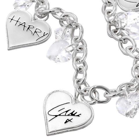 One Direction Crystal Signature Hearts Bracelet
