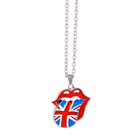 The Rolling Stones Gold Tongue Necklace